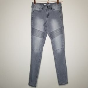 Mossimo mid-rise skinny motto jeans gray